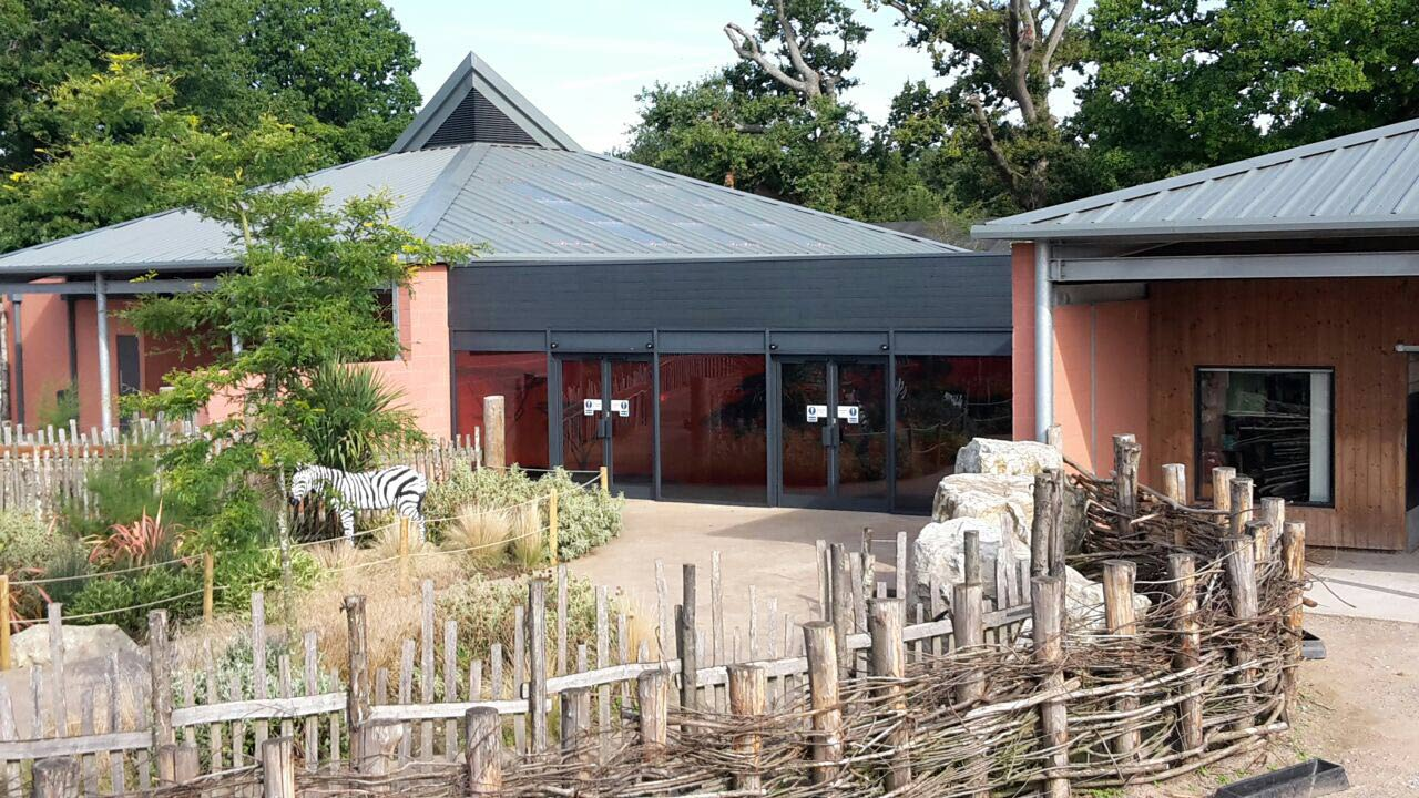 Marwell Zoo Visitor Center Doors