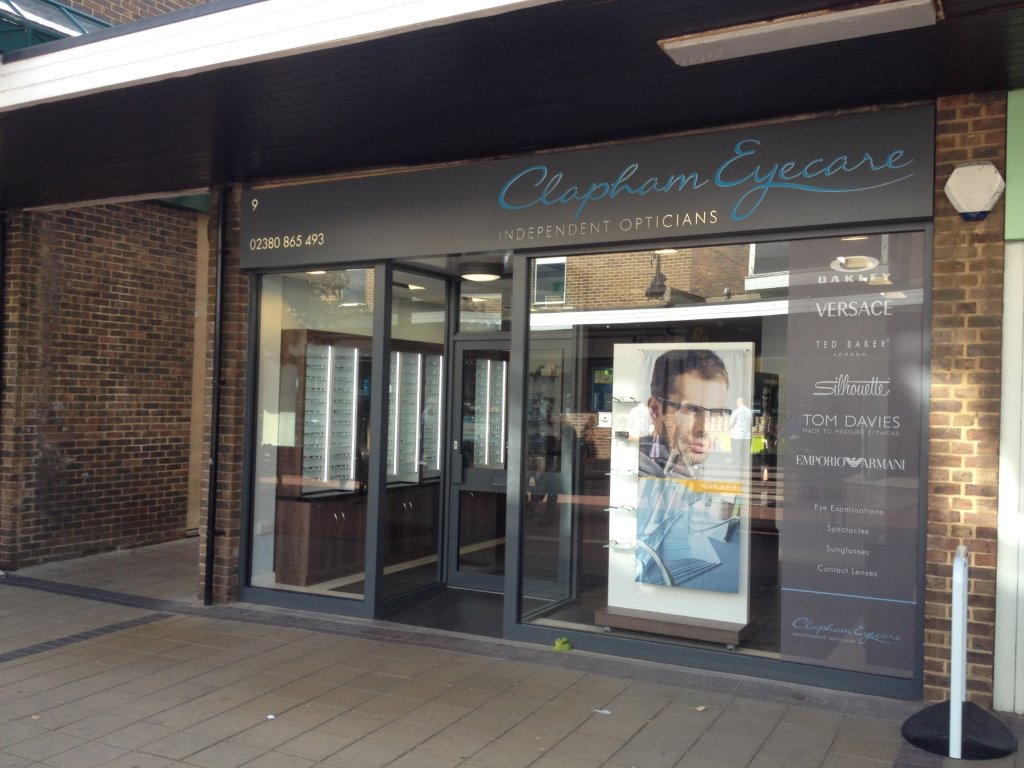 Clapham opticians shopfront