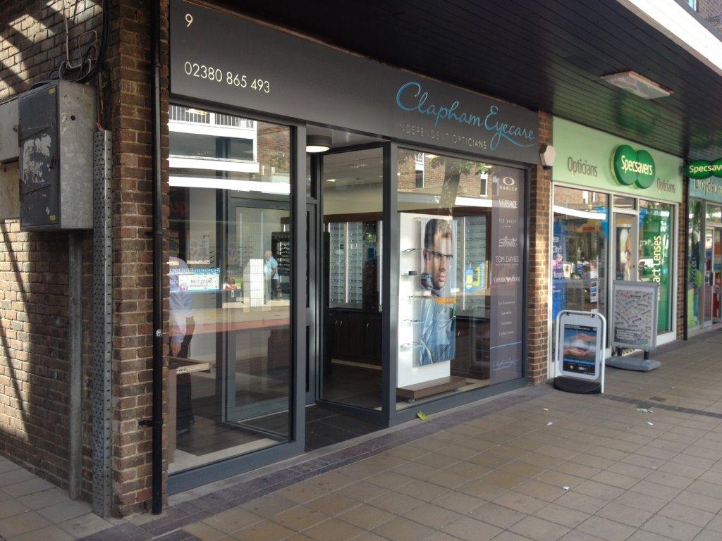 Clapham opticians shopfront